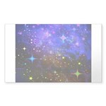 Galaxy Space Scene Graphic Sticker (Rectangle 50 p