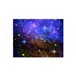 Galaxy Space Scene Graphic 35X21 Wall Decal