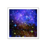 Galaxy Space Scene Graphic Square Sticker 3