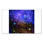 Galaxy Space Scene Graphic Sticker (Rectangle)