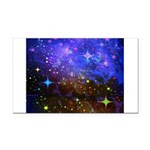 Galaxy Space Scene Graphic Rectangle Car Magnet