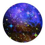 Galaxy Space Scene Graphic Round Car Magnet