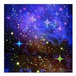 Galaxy Space Scene Graphic Square Car Magnet 3&Quo