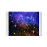 Galaxy Space Scene Graphic Rectangle Magnet (10 Pa