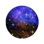 Galaxy Space Scene Graphic 3.5&Quot; Button