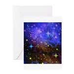 Galaxy Space Scene Graphic Greeting Card