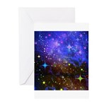 Galaxy Space Scene Graphic Greeting Cards (Pk of 2