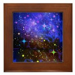 Galaxy Space Scene Graphic Framed Tile