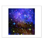 Galaxy Space Scene Graphic Small Poster