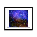 Galaxy Space Scene Graphic Framed Panel Print
