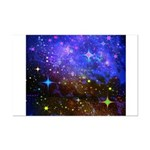 Galaxy Space Scene Graphic Mini Poster Print