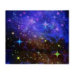 Galaxy Space Scene Graphic Throw Blanket