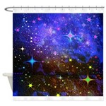 Galaxy Space Scene Graphic Shower Curtain