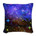 Galaxy Space Scene Graphic Woven Throw Pillow