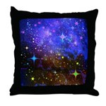 Galaxy Space Scene Graphic Throw Pillow