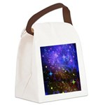 Galaxy Space Scene Graphic Canvas Lunch Bag