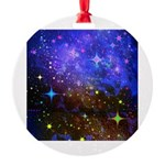 Galaxy Space Scene Graphic Round Ornament