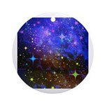 Galaxy Space Scene Graphic Ornament (Round)