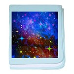 Galaxy Space Scene Graphic baby blanket