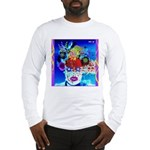 Fabulous Demented Diva Clown Long Sleeve T-Shirt