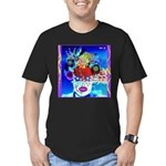 Fabulous Demented Diva Clown Men's Fitted T-Shirt