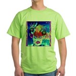 Fabulous Demented Diva Clown Green T-Shirt