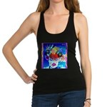 Fabulous Demented Diva Clown Racerback Tank Top