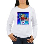 Fabulous Demented Diva Clown Women's Long Sleeve T