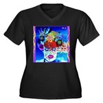 Fabulous Demented Diva Clown Women's Plus Size V-N