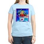 Fabulous Demented Diva Clown Women's Light T-Shirt