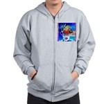 Fabulous Demented Diva Clown Zip Hoodie