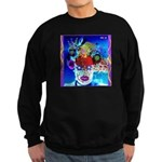 Fabulous Demented Diva Clown Sweatshirt (dark)
