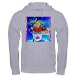 Fabulous Demented Diva Clown Hooded Sweatshirt
