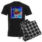 Fabulous Demented Diva Clown Men's Dark Pajamas