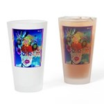 Fabulous Demented Diva Clown Drinking Glass