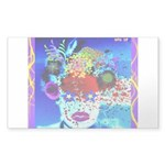 Fabulous Demented Diva Clown Sticker (Rectangle 50