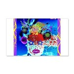 Fabulous Demented Diva Clown 20x12 Wall Decal