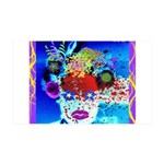 Fabulous Demented Diva Clown 35x21 Wall Decal