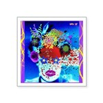 Fabulous Demented Diva Clown Square Sticker 3