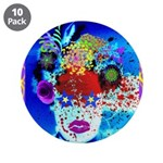 "Fabulous Demented Diva Clown 3.5"" Button (10"