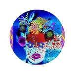 "Fabulous Demented Diva Clown 3.5"" Button"