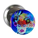 "Fabulous Demented Diva Clown 2.25"" Button (10"