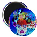 "Fabulous Demented Diva Clown 2.25"" Magnet (10"