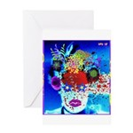 Fabulous Demented Diva Clown Greeting Card
