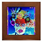 Fabulous Demented Diva Clown Framed Tile