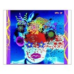 Fabulous Demented Diva Clown Small Poster