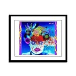 Fabulous Demented Diva Clown Framed Panel Print