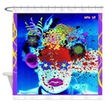 Fabulous Demented Diva Clown Shower Curtain