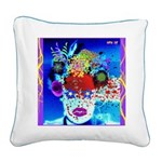 Fabulous Demented Diva Clown Square Canvas Pillow