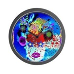 Fabulous Demented Diva Clown Wall Clock